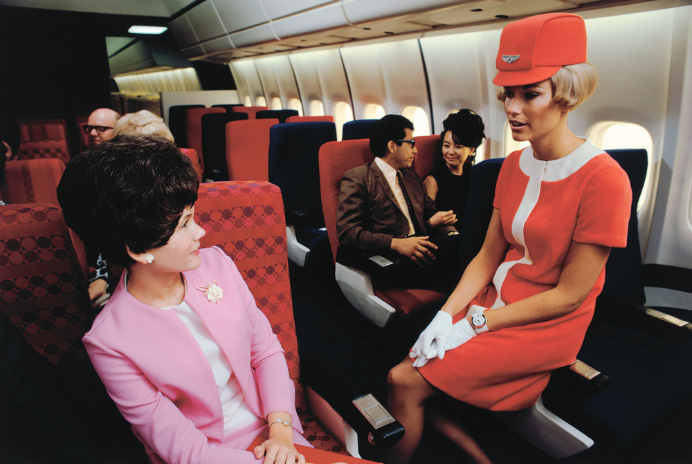 United Airlines stewardess in 1968