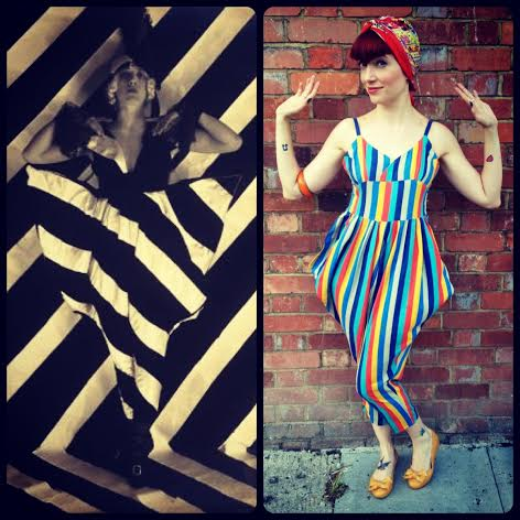 A jumpsuit from my days at Beyond Retro, that has a passing resemblance to a costume from the Chelsea Arts Club Dazzle Ball of 1919
