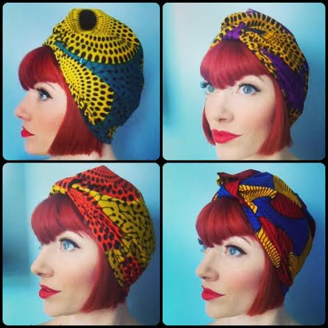 As I mentioned, I'm a big fan of turbans! These are made by a friend of mine Lorene (AKA Akhu Designs), who sells these 'Amber Jane' turbans (named after me!) on etsy:  etsy.com/shop/akhudesigns