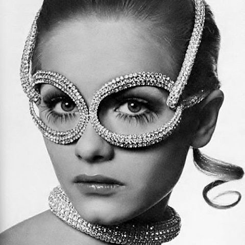 Amazing rhinestone accessory designed by #Halston in 1968. Photo by #BillKing #vintagefashion #fashionphotography #vintage #fashionhistory