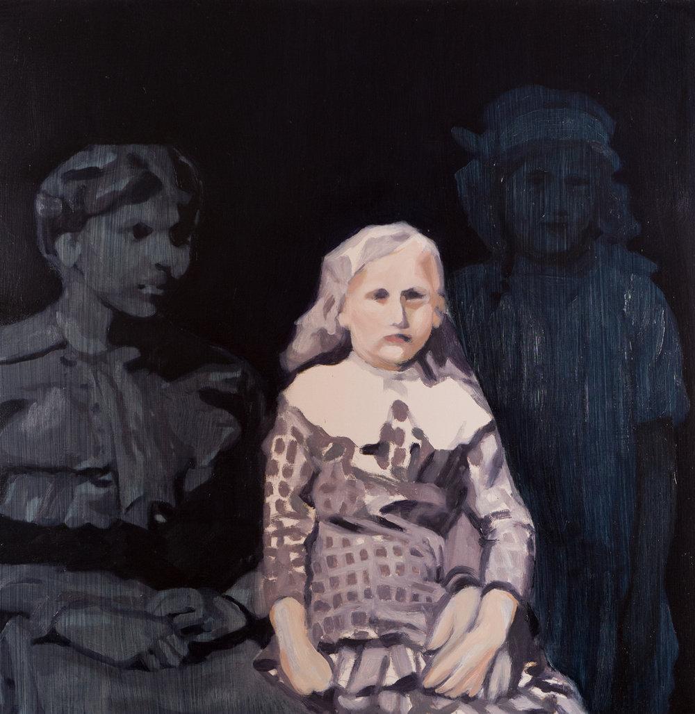 Fading, 2015 Oil on wood panel 45 x 45 cm