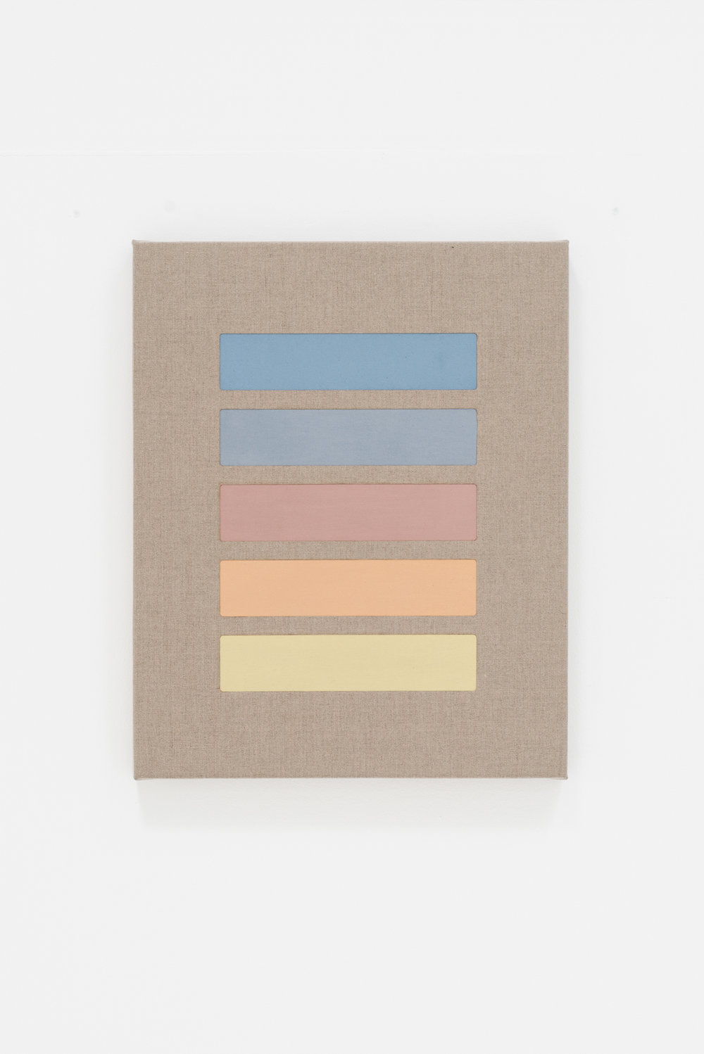 Sunset ,  2018 Oil and perforated linen 60 x 74 cm each