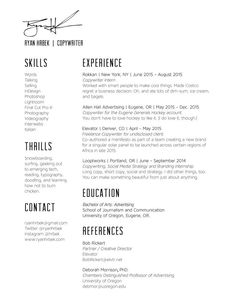 copywriter advertising resume slick copywriting from porsche full