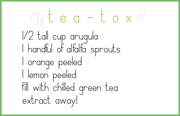 tea tox recipe