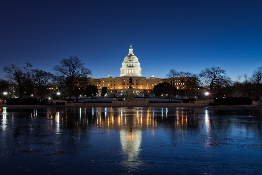 U.S. Capitol, January Morning