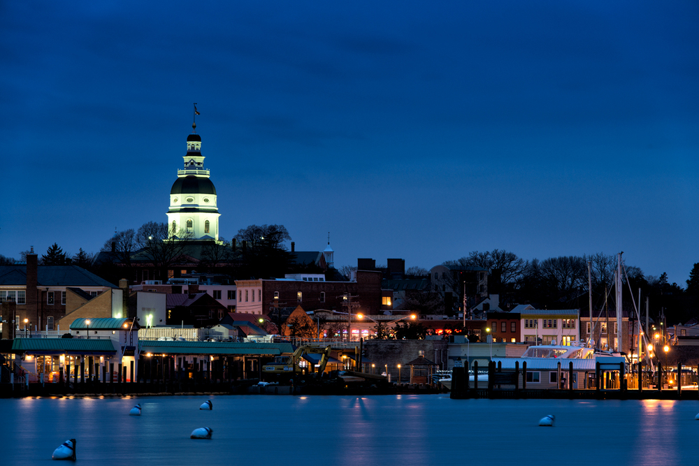 Annapolis Harbor, January Evening