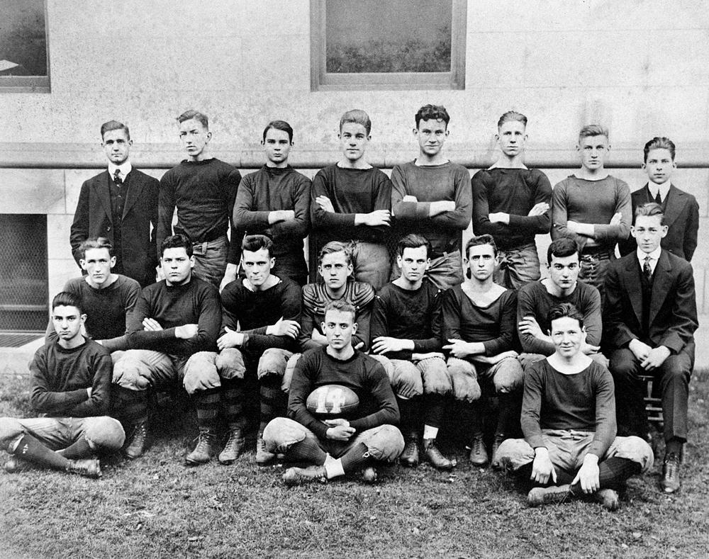 Harry Goodstein in High School (top row, third from left)