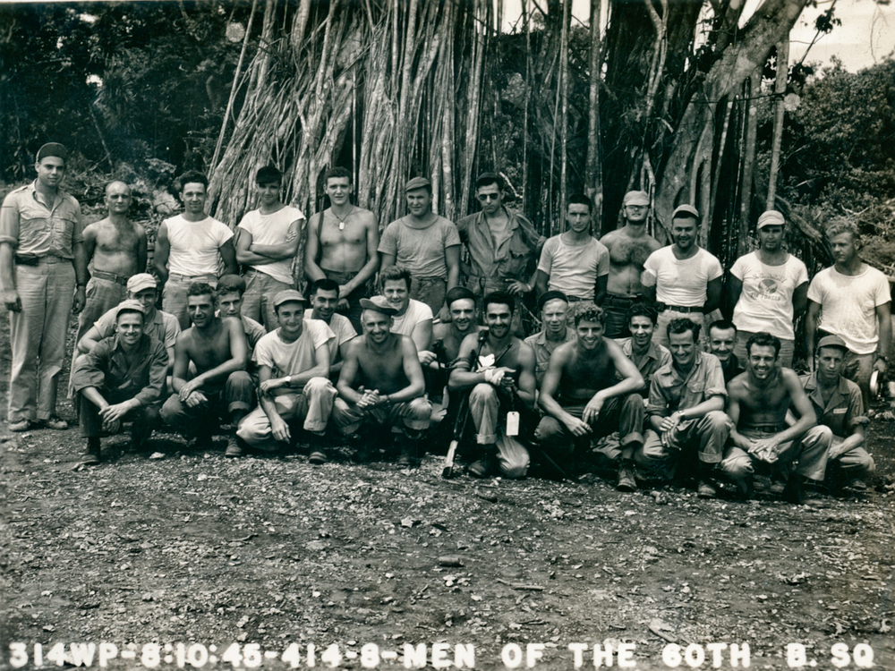 Doug and his unit on Guam