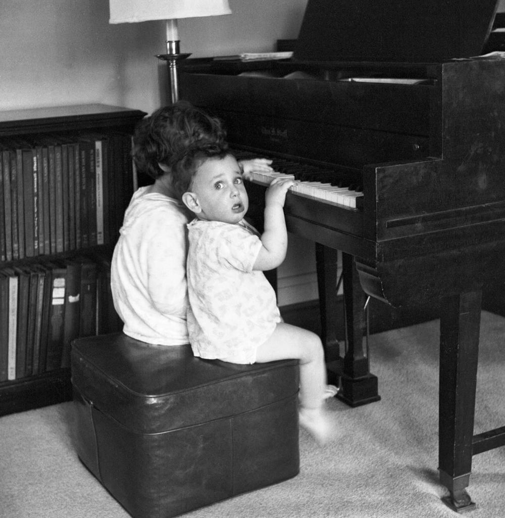 Sally and Dan at the piano