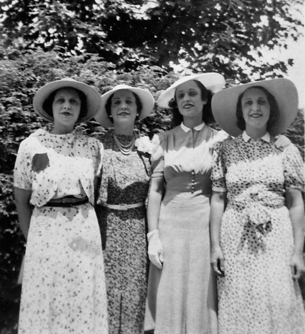 Florence, Irene, Kathryn and Isabel, 1938