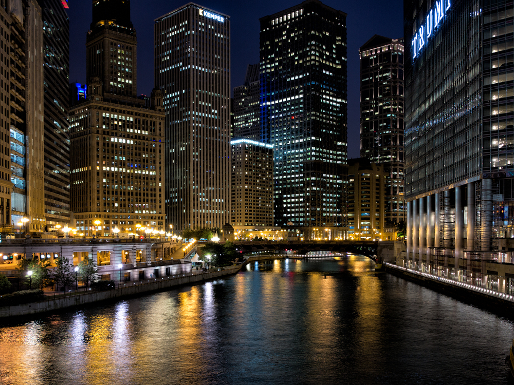 Chicago River, June Evening