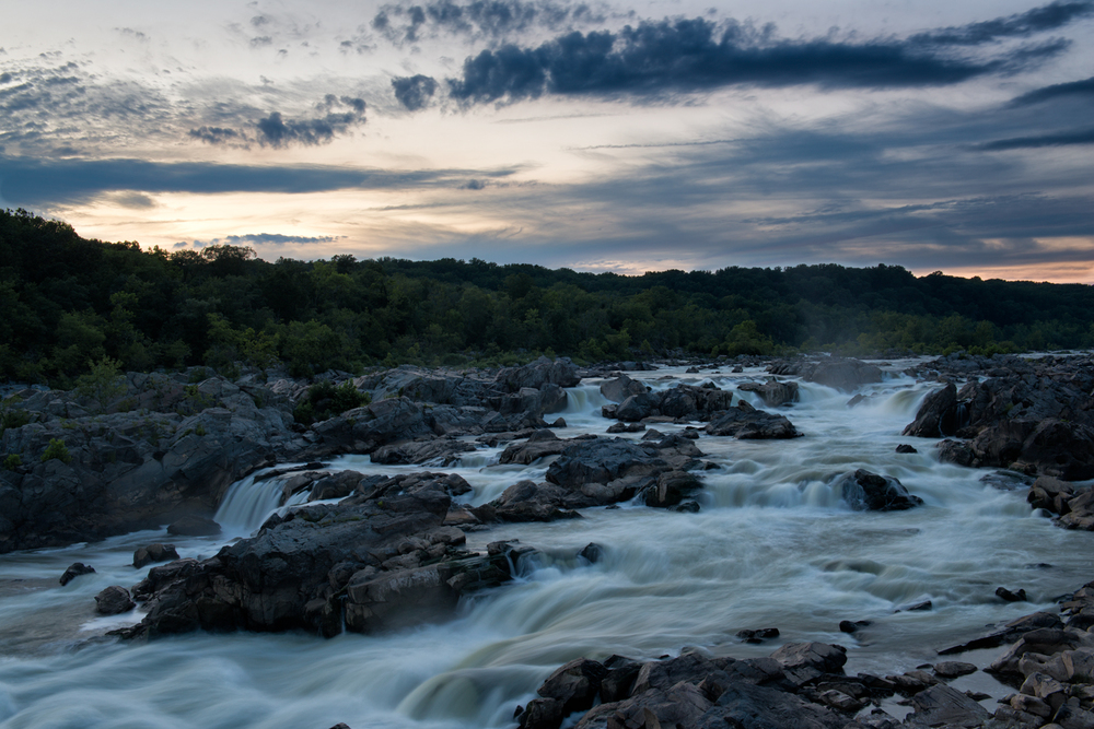 Great Falls, July Evening