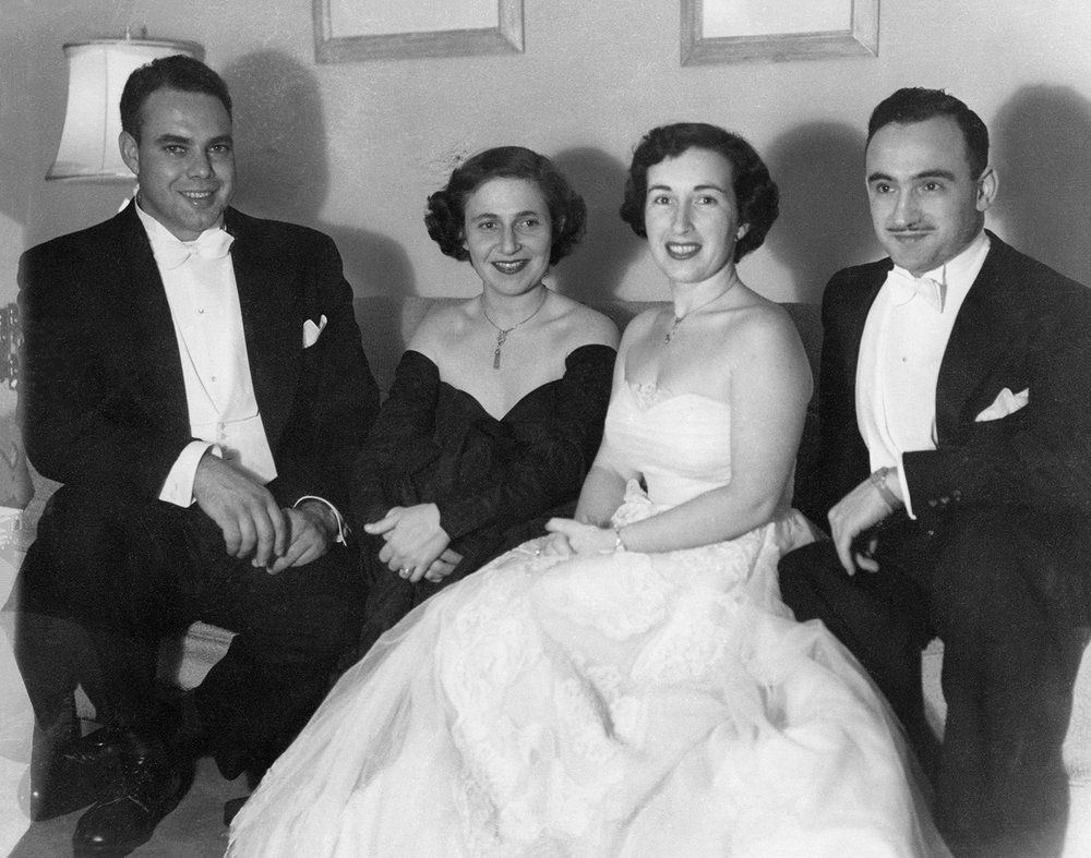 Doug and Anne, and Bernard and Rita Finestone