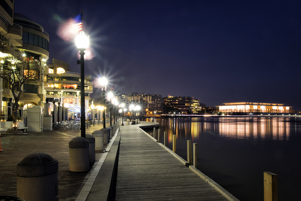 Washington Harbor, February Evening
