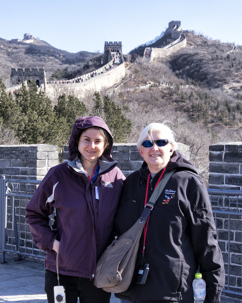 Rachel and Linda on the Great Wall