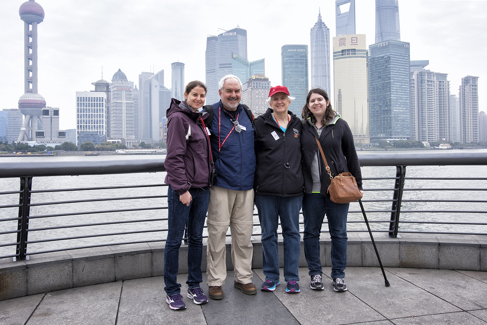 Lee, Linda, Rachel and Amy on the Bund in Shanghai