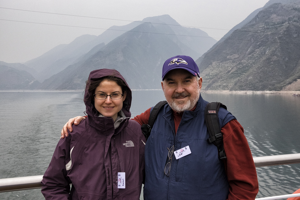 Rachel and Lee on the Yangtze