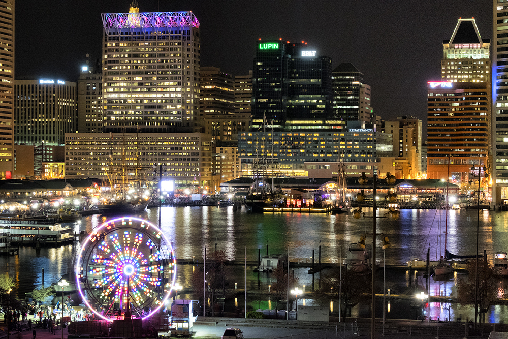 Baltimore Harbor, March Evening