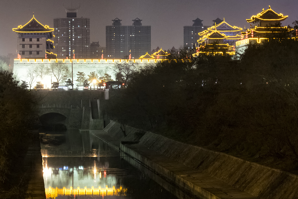 Xi'an City Walls at Night
