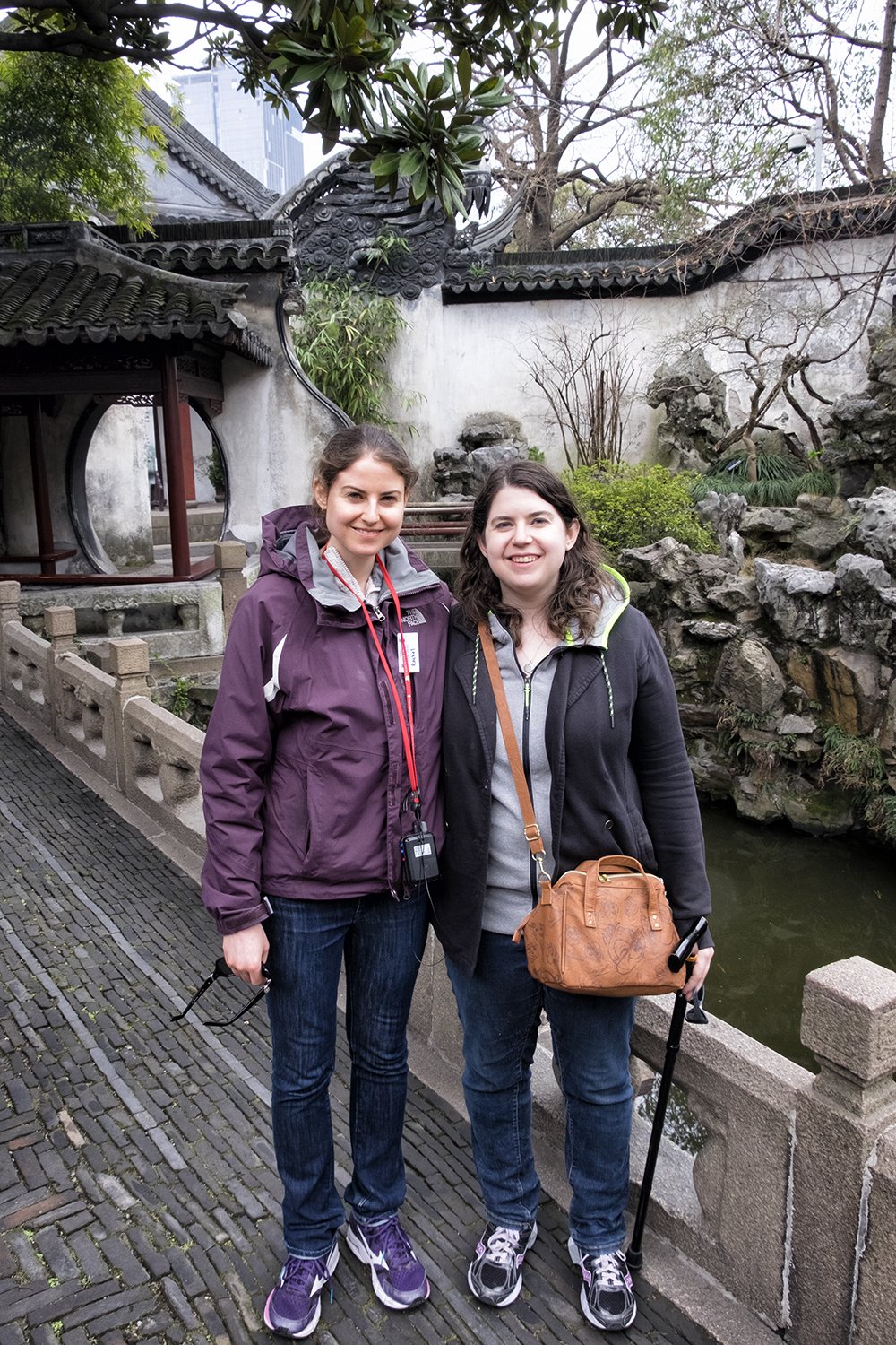 Rachel and Amy in the Yu Garden