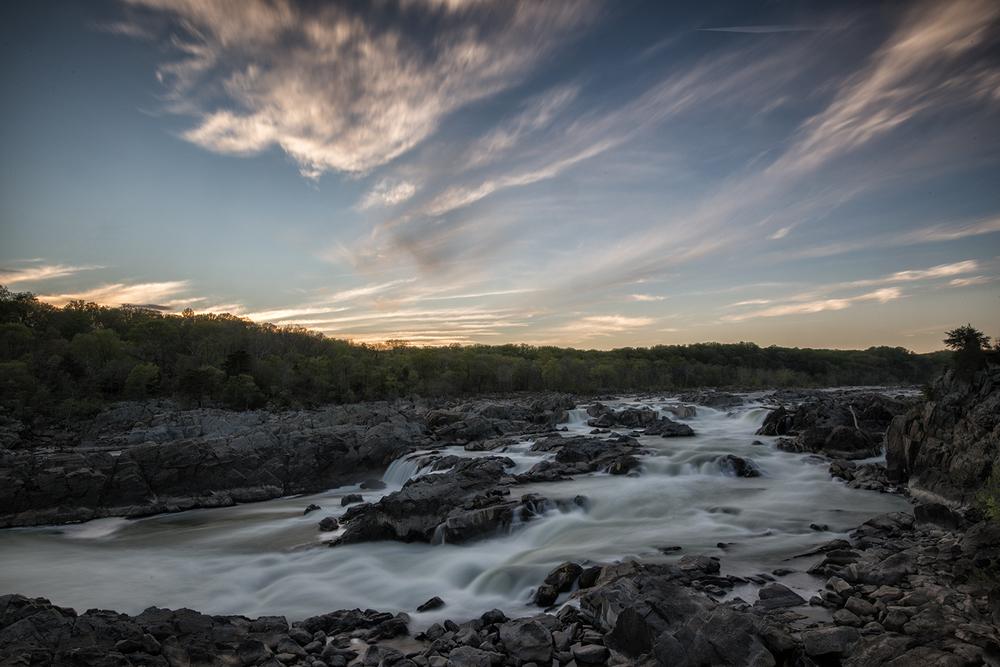 Great Falls, April Evening