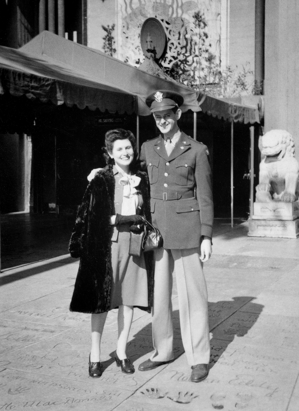 Jean and Fred Outside of Grauman's Chinese Theater in LA