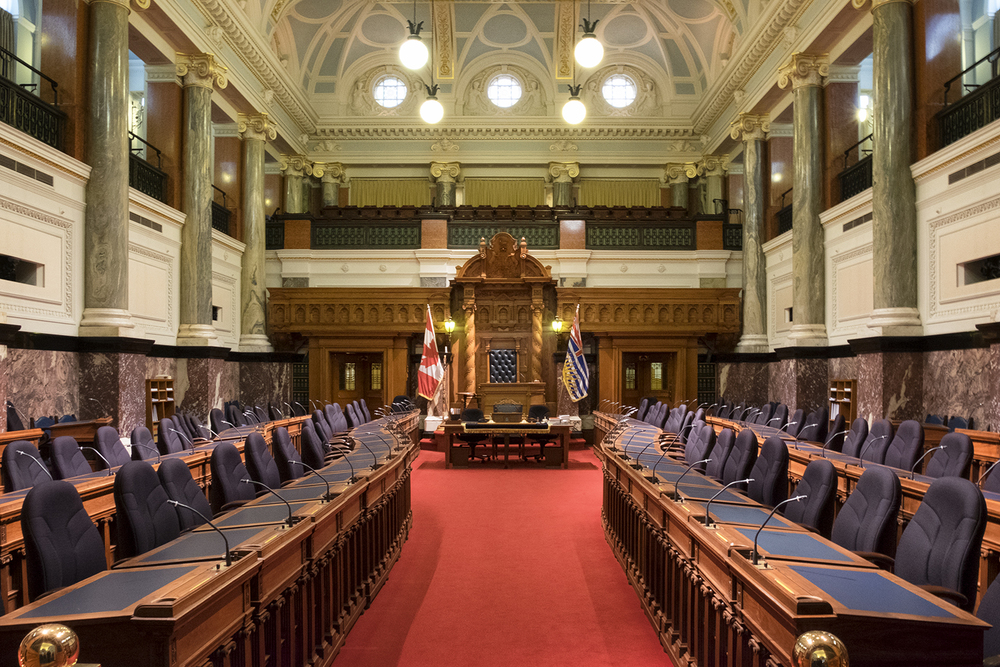 Inside the BC Parliament