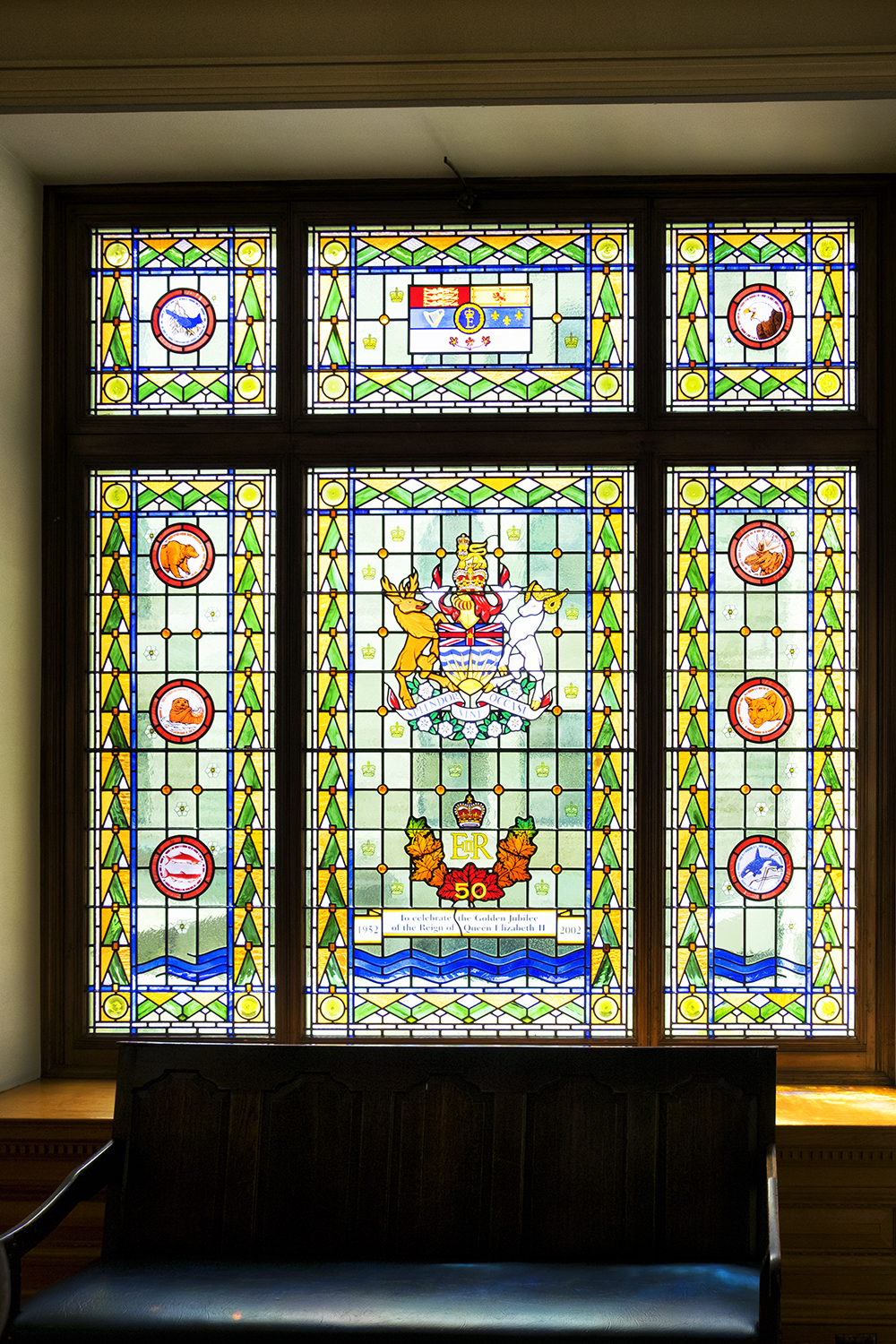 Queen Elizabeth Window, BC Parliament