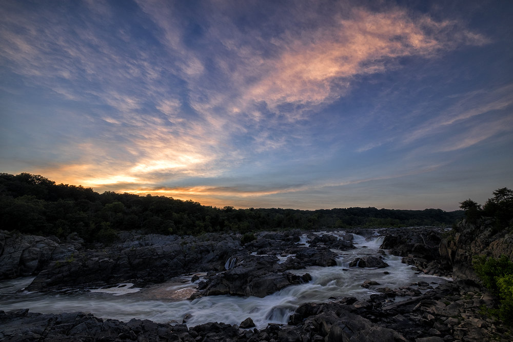 Great Falls, August Evening