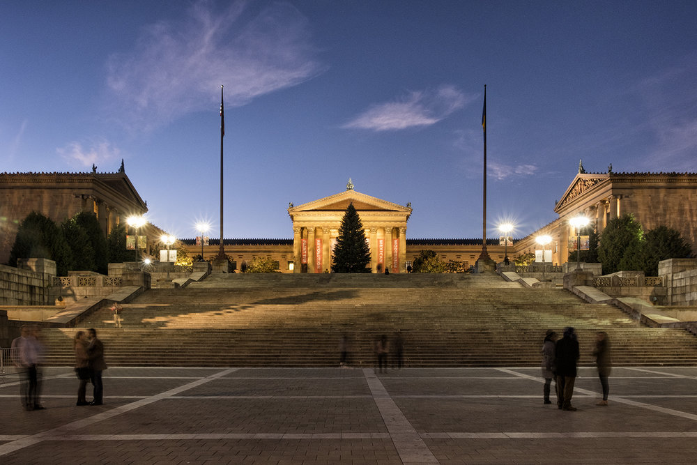 Philadelphia Museum of Art, November Evening