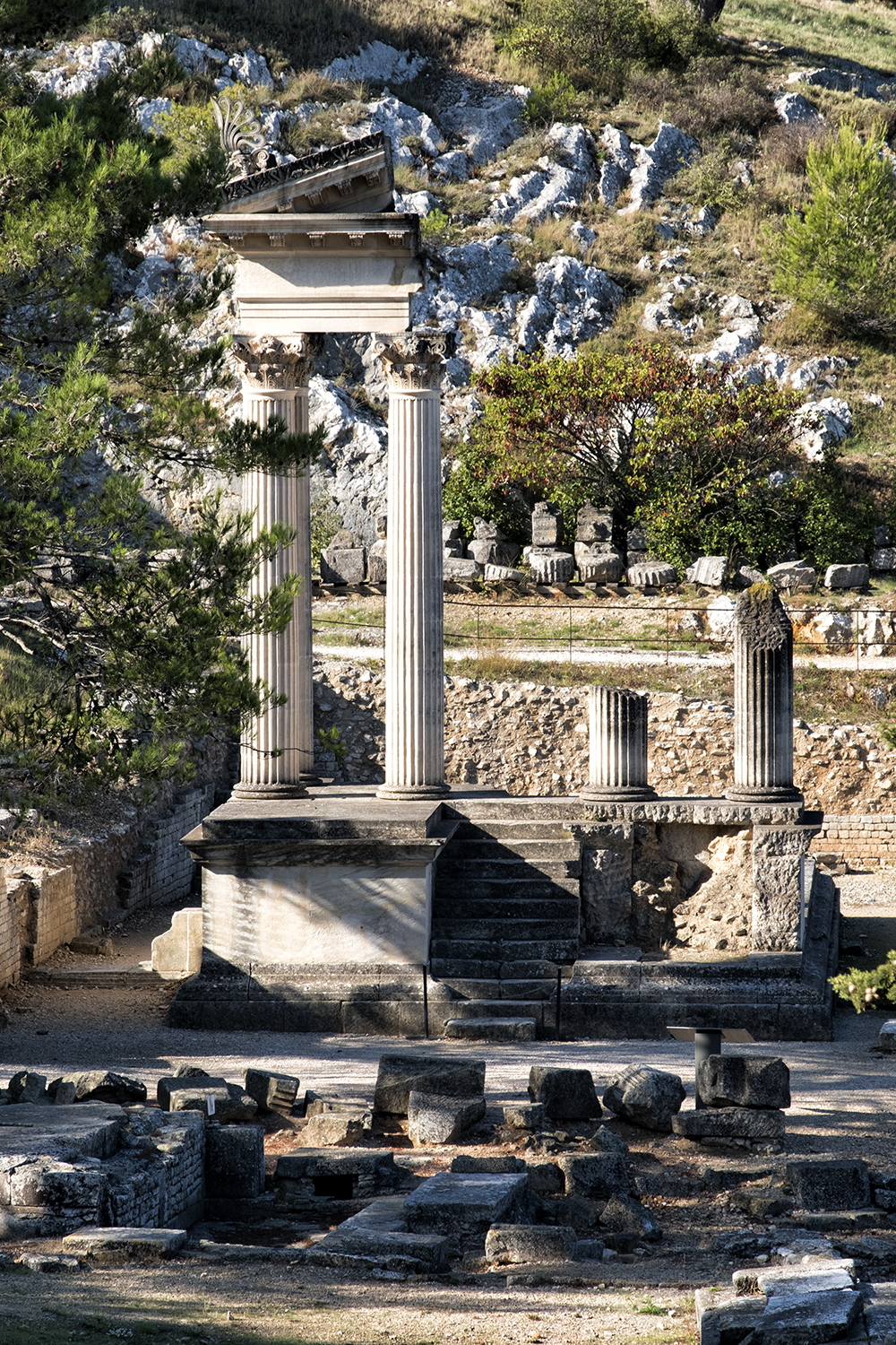 Ruins of Glanum, France, October Morning