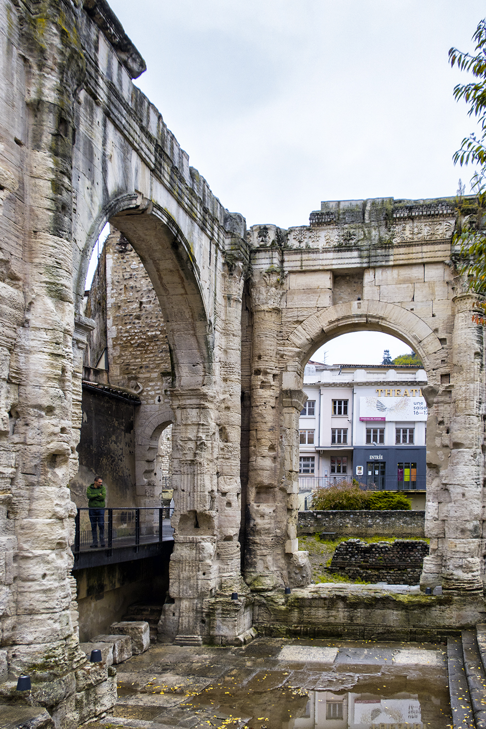 Roman Ruins, Vienne, France, October Morning
