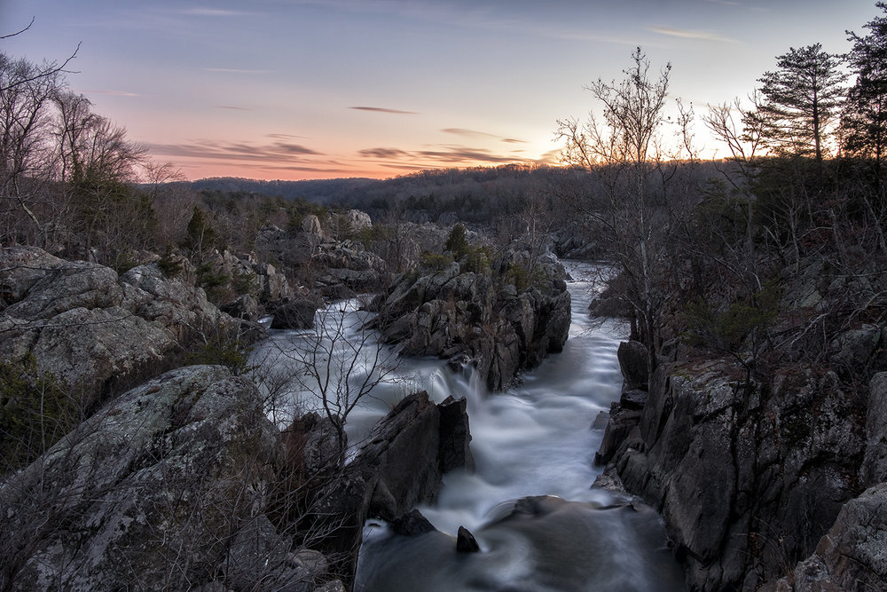 Great Falls, December Evening