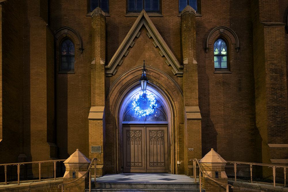Calvary Baptist Church, December Evening