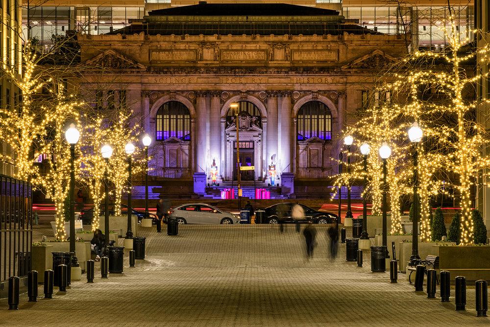 Carnegie Library, December Evening