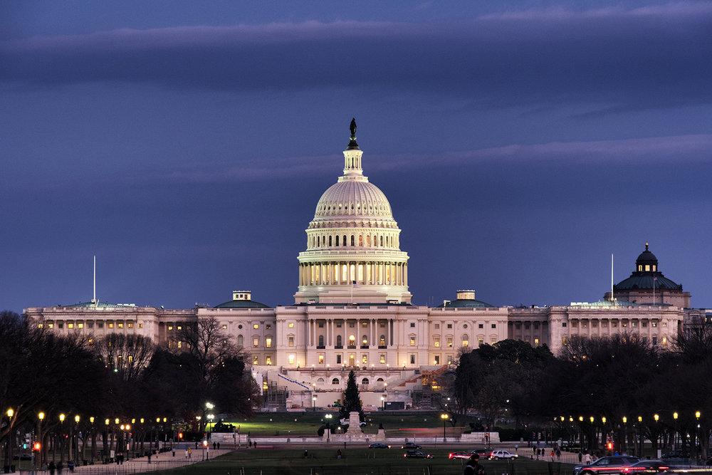 The Capitol, December Evening
