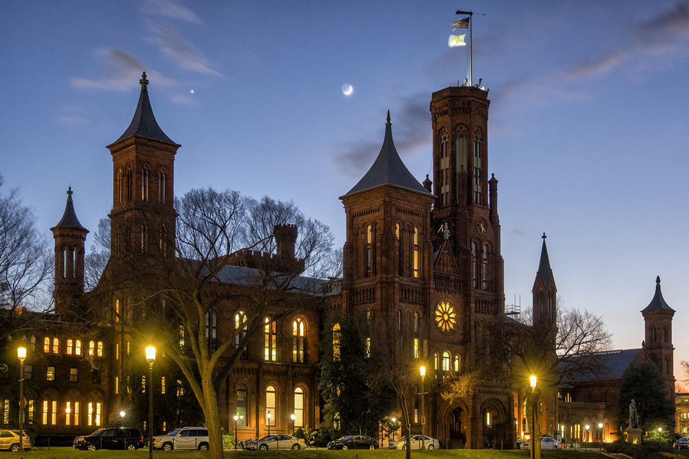 Smithsonian Castle, December Evening