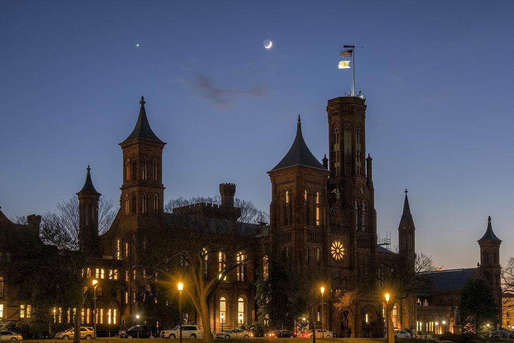 Smithsonian Castle, December Evening