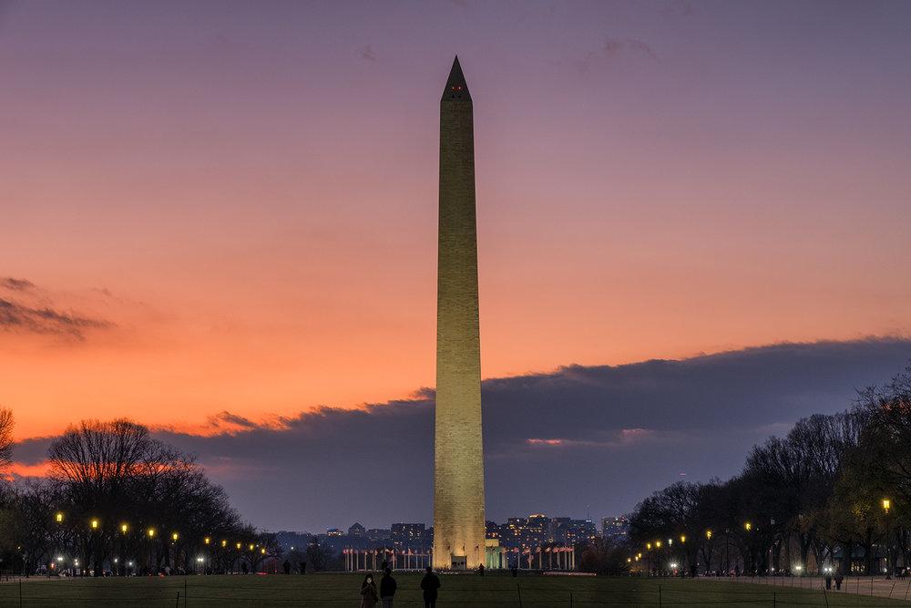 Washington Monument, December Evening