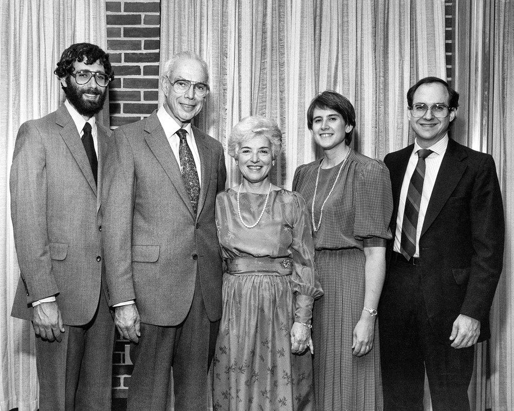 Dan, Doug, Hilda, Linda and Lee, 1984