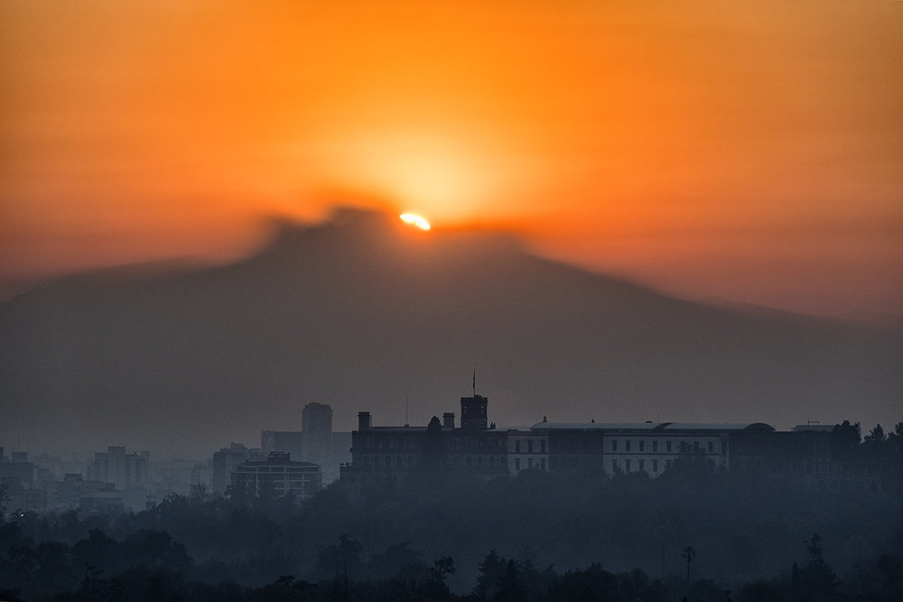 December Sunrise, Mexico City