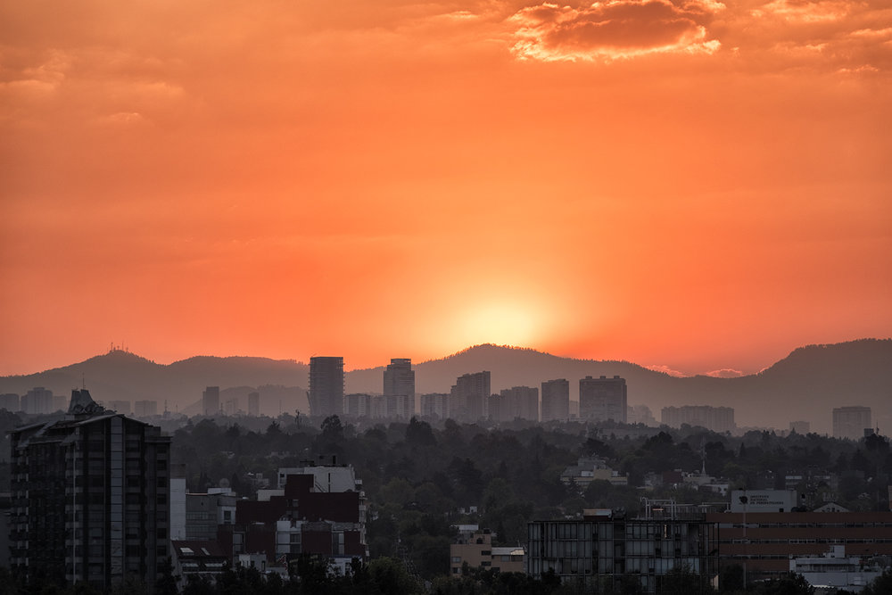Mexico City, December Sunset