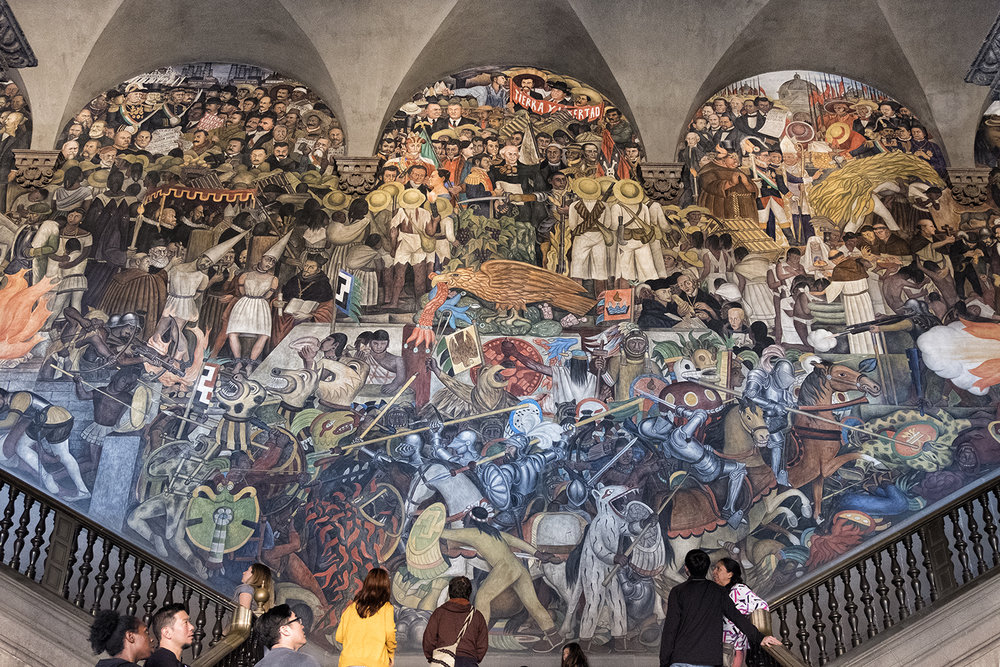 Diego Rivera Frescoes, Palacio Nacional, Mexico City