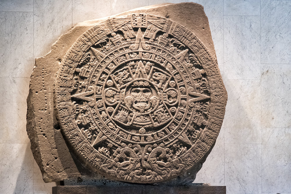 Piedra del Sol (Stone of the Sun), Museo Nacional de Anthropologie, Mexico City