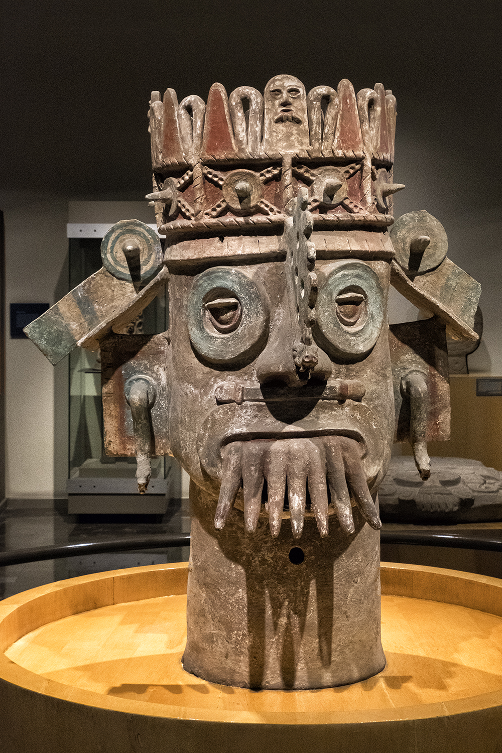 In the Museo Nacional de Archaeologia, Mexico City