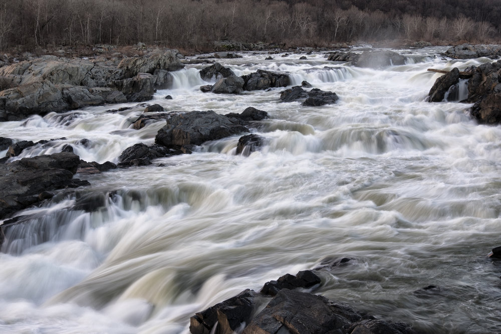 Great Falls, January Evening