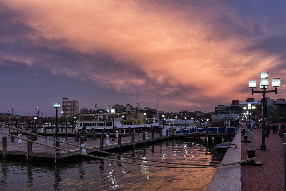 Baltimore Harbor Sunrise, April Morning