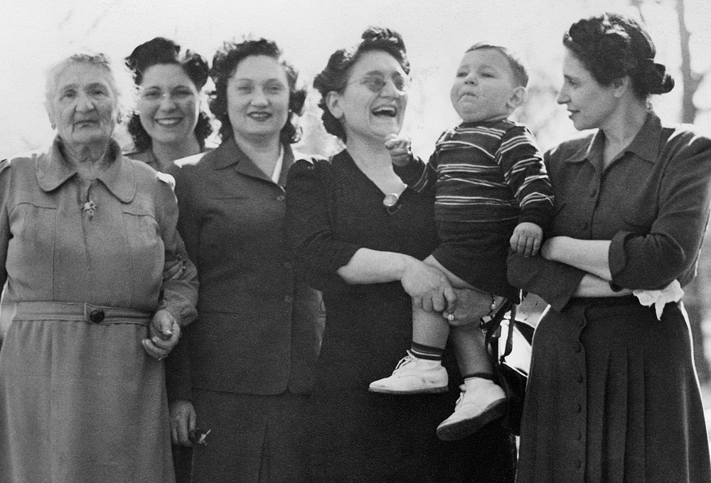 Adalman Women in WWII: Dora, Sylvia, Hannah, Rose and Sylvia