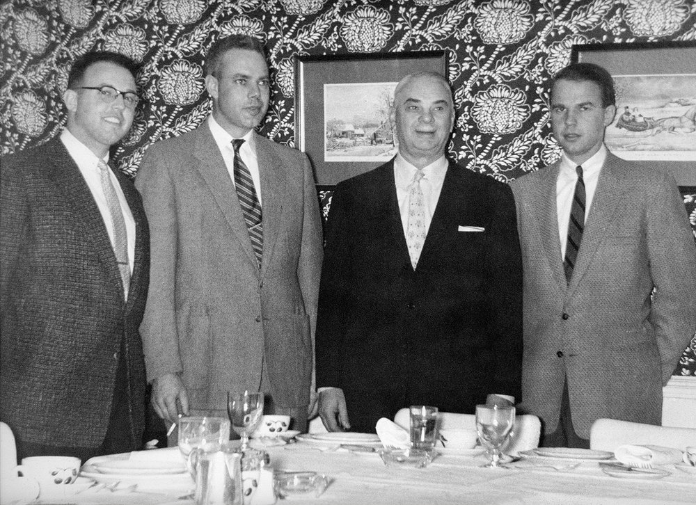 Richard, Douglas, Harry and Buddy Goodwin, 1955