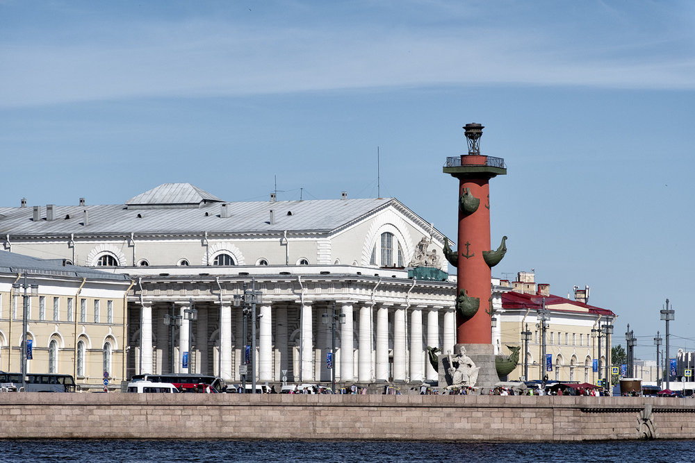 Rostral Column and Old Stock Exchange, St. Petersburg